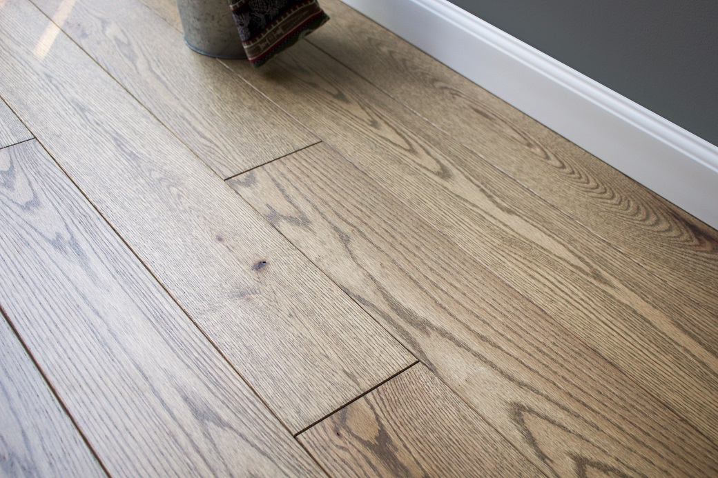"""photo of 5"""" Red Oak Livesawn Barrel hardwood flooring from our Rangeley collection"""