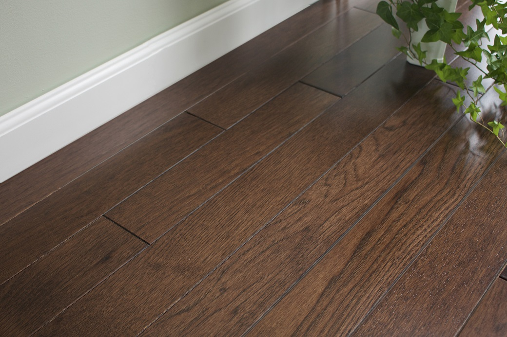 photo of Hickory Bourbon hardwood flooring from our classic collection