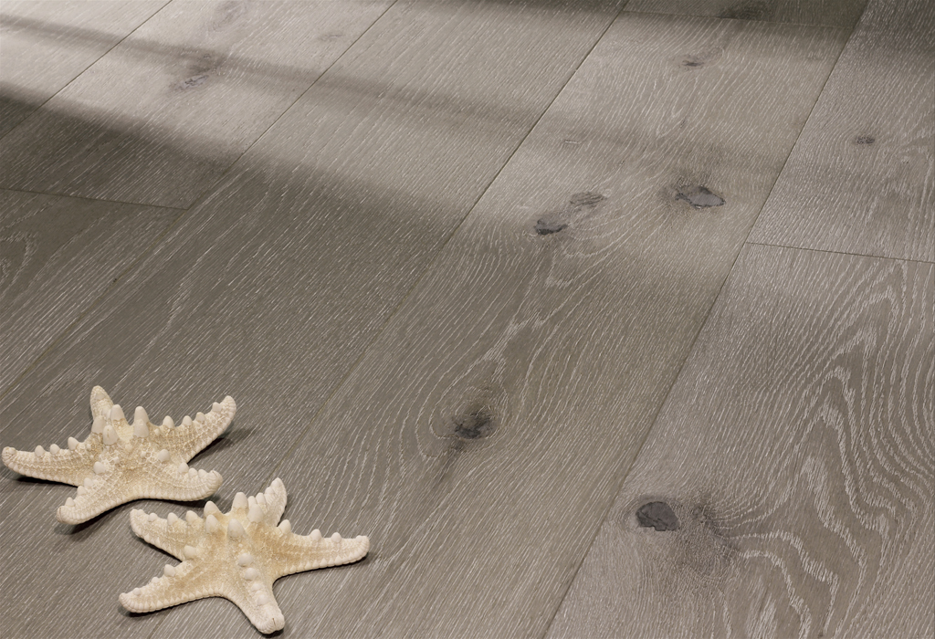 """photo of 7 1/2"""" Engineered White Oak Driftscape hardwood flooring from our Camden collection"""