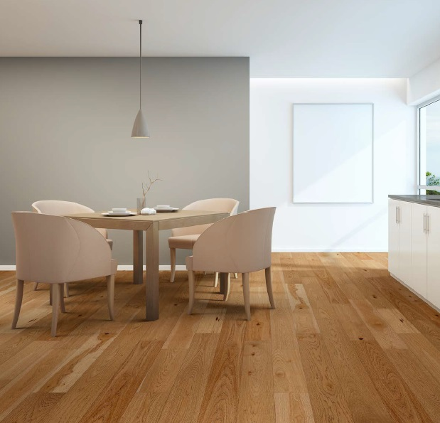"""photo of 7 1/2"""" Engineered Hickory Adrift hardwood flooring from our Camden collection"""