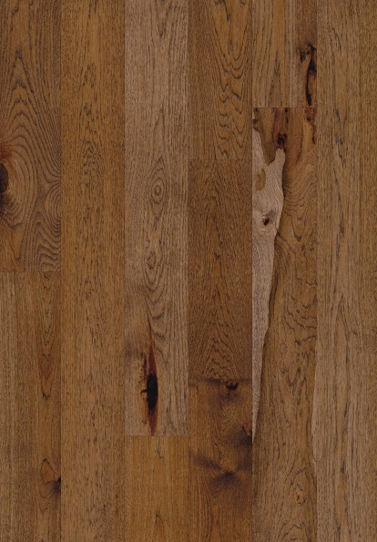"""up-close photo of 7 1/2"""" Engineered Hickory Maiden hardwood flooring from our Camden collection"""