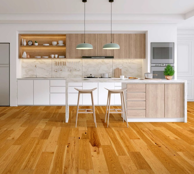 """photo of 7 1/2"""" Engineered Hickory Shoreline hardwood floor from our Camden collection"""