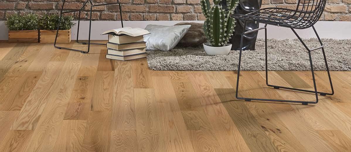 photo of Rangeley clear hardwood flooring room scene