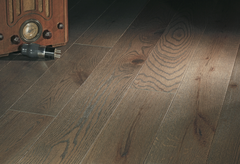 """photo of 5"""" Red Oak Livesawn Driftwood hardwood flooring from our Rangeley collection"""