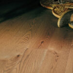 "photo of 5"" Red Oak Livesawn Fawn hardwood flooring from our Rangeley collection"