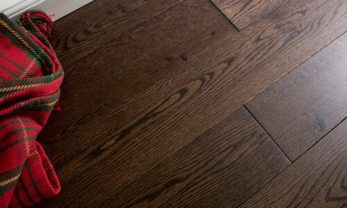 "photo of 5"" Red Oak Livesawn Saddleback hardwood flooring from our Rangeley collection"