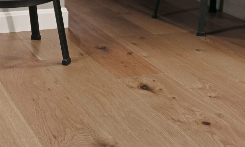 "photo of 7 1/2"" Engineered White Oak Sandstone hardwood flooring from our Camden collection"