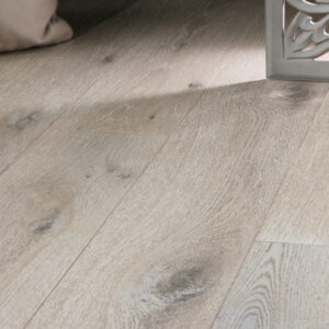 """photo of 7 1/2"""" Engineered White Oak Sea Salt hardwood flooring from our Camden collection"""
