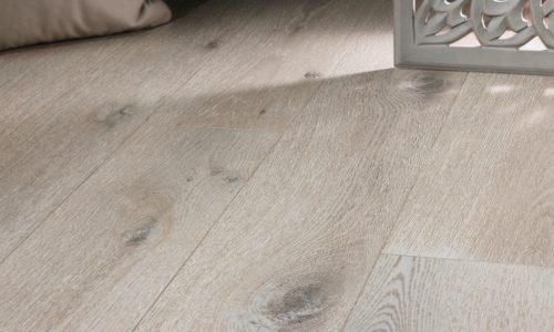 "photo of 7 1/2"" Engineered White Oak Sea Salt hardwood flooring from our Camden collection"