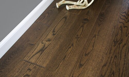 "photo of 5"" Red Oak Livesawn Vintage Brown hardwood flooring from our Rangeley collection"