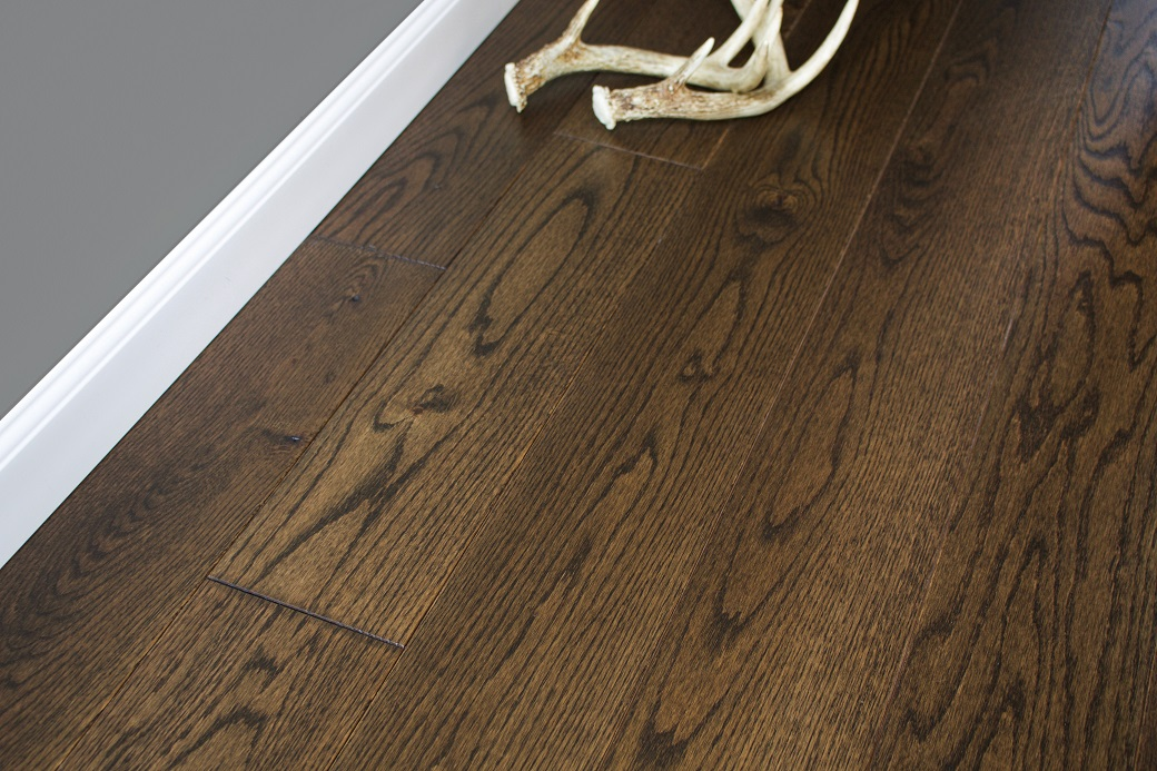 """photo of 5"""" Red Oak Livesawn Vintage Brown hardwood flooring from our Rangeley collection"""