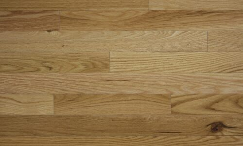 up-close photo of Red Oak Clear hardwood flooring from our Pro collection