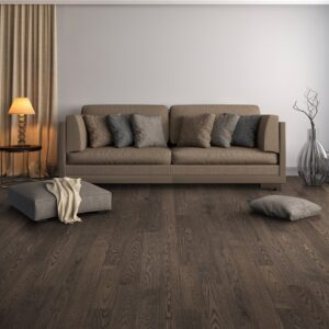 """photo of Engineered 5"""" Red Oak Coastal Grade Black Pepper hardwood flooring from our Freeport collection"""