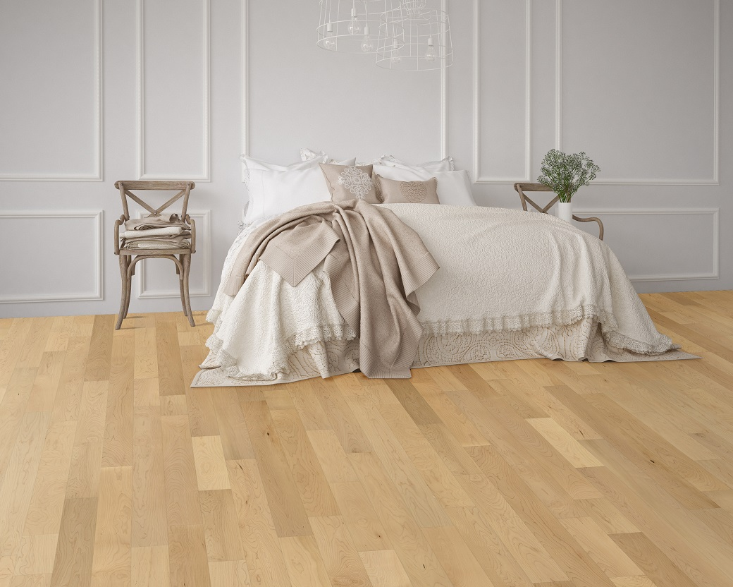 """photo of Engineered 5"""" Hard Maple Premium Grade Clear Finish hardwood flooring from our Freeport collection"""
